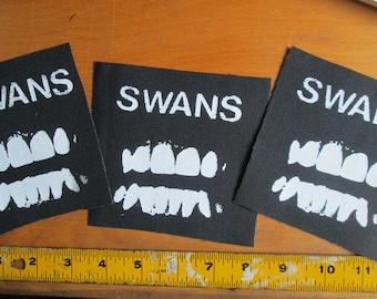 SWANS Punk Patch on Black Canvas