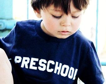 Preschool T Shirt by Hatch For Kids - Back To School Children's Unisex Tee Animal House Clothing Bluto College Tshirt Original Sizes 2T 4T 6