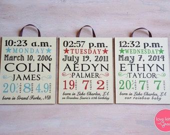 Custom Baby Stat Sign Decor Friendly
