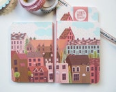 Notebook 80pages - Coral Pink - Travel Notebook - Note-book - Pocket Notebook -