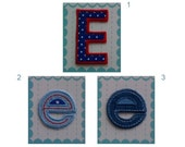 Fabric Letters Iron on Applique Patch Letter E 5.50 cm 2.16 inches e 4 cm 1.57 inches