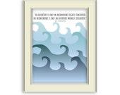 G.K. Chesterton Quote about Adventure, Printable- Ocean waves, adventure art printable. Inspiring.