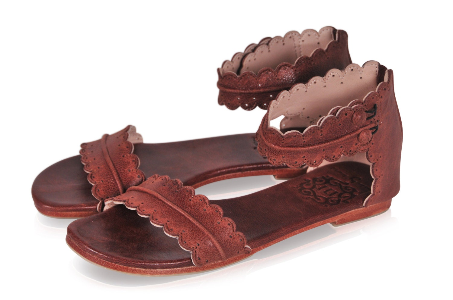 Midsummer Brown Leather Sandals Women Shoes Leather Shoes
