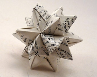 Small Book Star Ornament, Christmas Ornament, Origami Star, Book Ornament, Origami Ornament