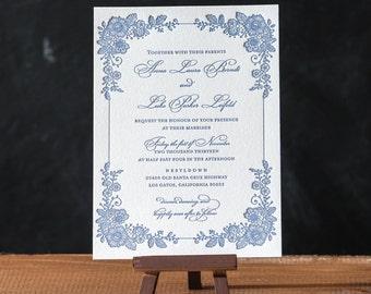 Eleanor Letterpress Invitation Suite DEPOSIT