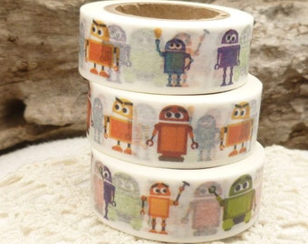 Colorful Robot Children Baby  Washi Tape - P605