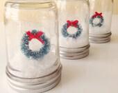 Wreath Mason Jar Christmas Decoration
