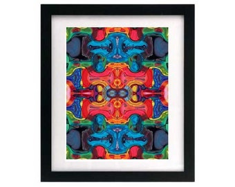8.5 x 11 Psychedelic Art Print - Signed & Numbered — Free Shipping