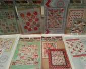 SALE! Lot of 8 quilt patterns by Thimble Blossoms