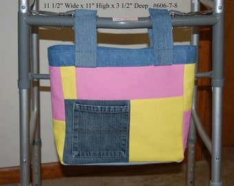 Pink or Blue Jean Walker Pouches