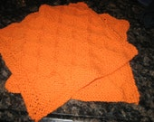 Orange, Green, Purple or Red or White Dishcloths