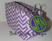 Personalized Glitter Monogram Key Chain FOB - 5 Colors