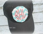 Raggy Patch monogrammed ball cap
