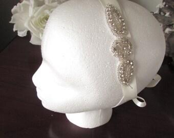 Wedding Headband, Crystal Rhinestone Headband