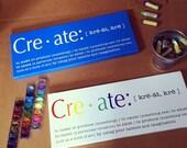 CREATE, Word Definition Wall art, definition plaque,  Canvas wall art, Kids room decor, playroom wall art, craft room wall art