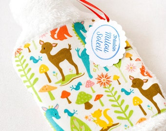 "Baby Hot Water Bottle & Cover ""Animal-Friends"" - 0,8 l -"