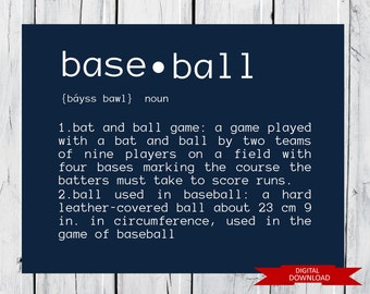 Baseball Definition  PDF Digital Download