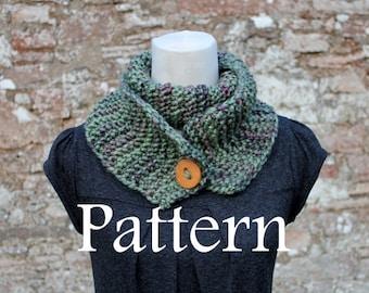 Gypsy button scarf - knitting pattern - Listing86