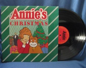 "RARE, Vintage, ""Annie's Christmas"", Holiday Vinyl LP, Record Album, Children's Traditional Classics, Deck The Halls, Jolly Old St. Nicholas"