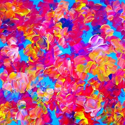 FLORAL Fantasy Fine Art Window Curtains, Multiple Sizes Abstract Hot Pink  Turquoise Blue Decor Bedroom Kitchen Lined Unlined Woven Fabric