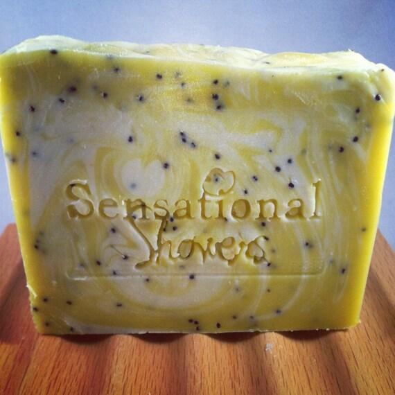 Lemon Poppy Seed exfoliating Soap Bar 5oz