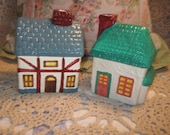 Set of Two Little Country  Houses