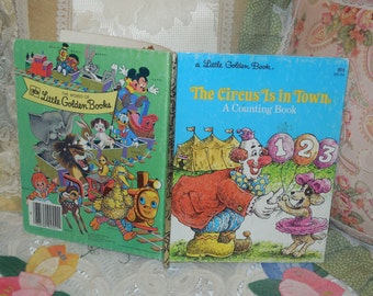 1978 The Circus Is in Town A Counting Book Golden Book By  David L Harrison Illustrated by Larry Ross