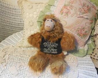 1988 Vintage Alf Born to Rock Hand Puppet Movie Star Toy Alien  :)