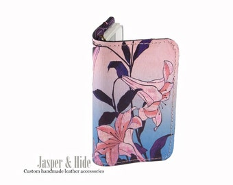 Printed Leather Phone Wristlet- Custom made for any phone