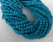 5 Strand X14 Inches Very Very Good Quality Turquoise  Micro Facted Randell Beads Size 3 mm To 3.50mm Approx