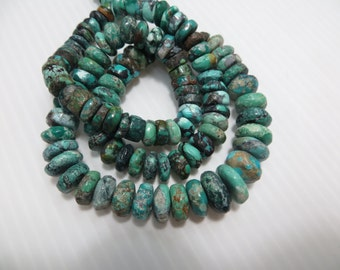 350 CRT 18 Inches Full necklace Natural Color And Natural Stone Tibetan Turquoise Plan Beads Good Quality Size 7 mm To 13 mm Approx