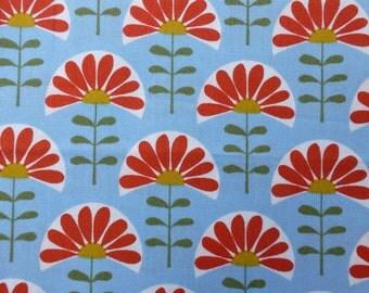 1/2 Yard Organic cotton, Monaluna, Meadow, Folk Flowers