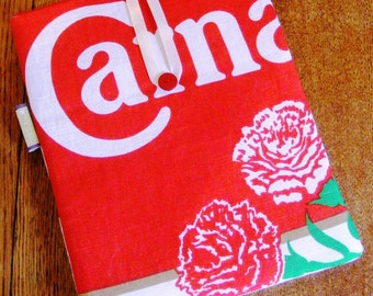 "iPad, Kindle Fire or other 10"" Tablet / e-Reader Sleeve - Vintage 1970s Carnation Milk Advertising Teatowel"