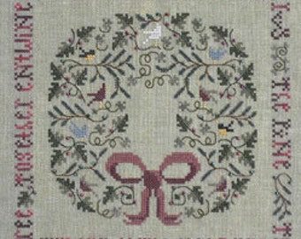 The Drawn Thread, The Holly & The Ivy, Cross Stitch Chart, Christmas Pattern