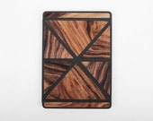 iPad Case iPad Stand Tablet Stand Smart Cover with Back Tablet Case Automatic for iPad Air 2 Leather/Wood Combination Christmas Gift
