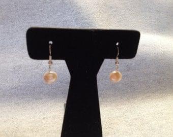Vintage Costume Faux Pearl Beaded Dangle Earrings