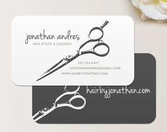 Shears Business Card / Calling Card / Mommy Card / Contact Card - Hair Stylist, Barber, Salon Calling Cards, Business Cards