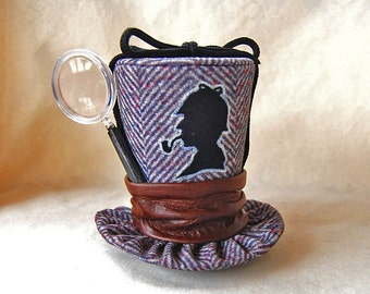 Tiny Top Hat: Sherlock Holmes - Lolita Cosplay Costume Party Fascinator fast shipping Prop Wedding Small Mini top hat Miniature little