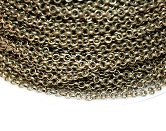 42ft  Antique Brass Rolo Chain 2.5mm