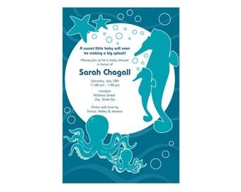 Sea Creatures Baby Shower Invite