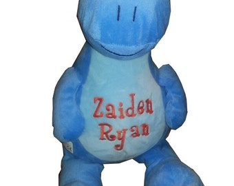 "Stuffed animal, Dinosaur, baby gift, 13"" tall, toddler present"
