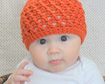 Baby Pumpkin Hat, Toddler Pumpkin Hat, Fall Baby Hat