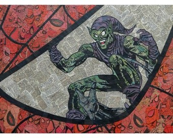 Spider Eye Green Goblin Print 11x17