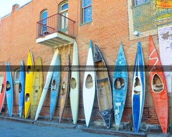 "Vibrant ""Colourful Canoes 2"" Fine Art Photograph"