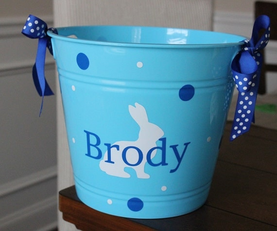 Items Similar To Personalized Easter Basket Plastic