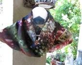 Silk   Scarf, Circle Scarf, Infinity Scarf ,  Flower Print , Infinity Scarves,Scarf  Warp