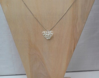 Pearl Heart Pendant Necklace