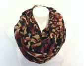 Abstract Print Sweater Infinity Scarf, Unisex Scarf, Jersey Scarf