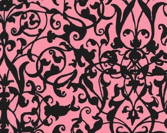 SALE--TRELLIS GATE--Pink--Midnight Garden--Michael Miller--price is per yard