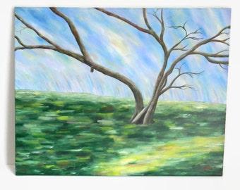 "Impressionism: Tree - Original Acrylic Painting - 24X30"" - Large painting - Tree painting - Landscape painting - Tree Landscape"